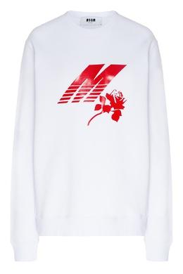 Белый свитшот с красным принтом MSGM 296158692