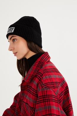 Черная шапка бини с вышивкой Essentiel Antwerp 754158898