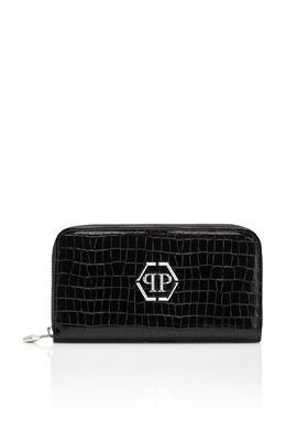 Черный кошелек с эмблемой бренда Philipp Plein 1795159630