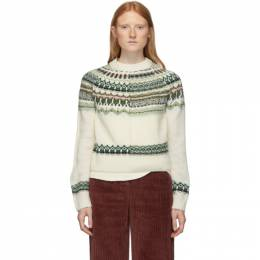 M Missoni White and Multicolor Norwegian Sweater 192269F09600302GB