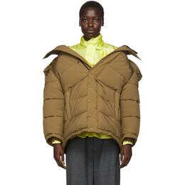 Balenciaga Brown Swing Puffer Jacket 192342F06100201GB