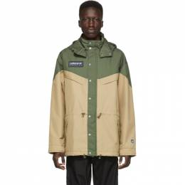 Adidas Originals Green and Beige Spezial Belthorn Anorak Jacket 192751M18001505GB