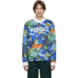 Kenzo Blue Kenzo World Sweatshirt 192387M20400406GB