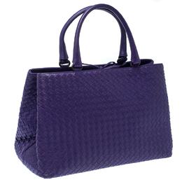 Bottega Veneta Purple Intrecciato Leather Tote 233080