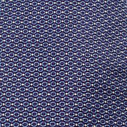 Ermenegildo Zegna Blue Ring Pattern Silk Jacquard Classic Tie 235798
