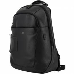 Piquadro Black Leather Backpack 157838