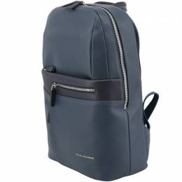Piquadro Navy Blue Leather Backpack 157850