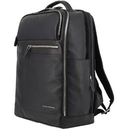 Piquadro Black Leather Backpack 157846
