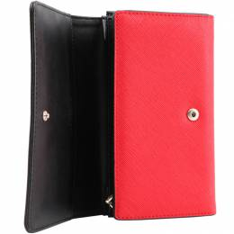 Love Moschino Red Leather Continental Wallet 157271