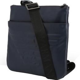 Emporio Armani Blue Faux Leather Messenger Bag 236580