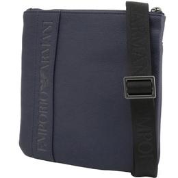 Emporio Armani Blue Faux Leather Messenger Bag 236581