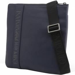 Emporio Armani Blue Faux Leather Messenger Bag 236583