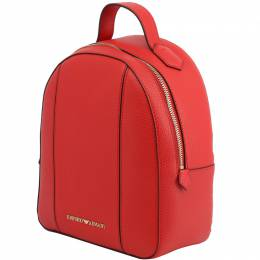 Emporio Armani Red Faux Leather Backpack 236584