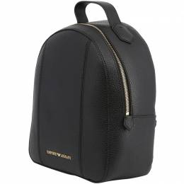 Emporio Armani Black Faux Leather Backpack 236585