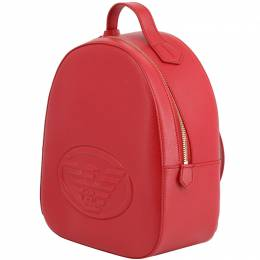 Emporio Armani Red Faux Leather Backpack 236586