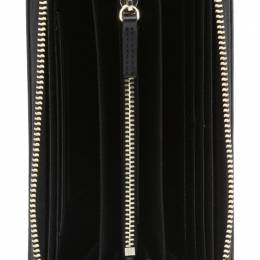 Emporio Armani Black Faux Leather Zip Around Wallet 236589