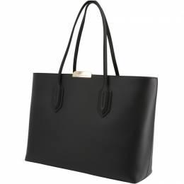 Emporio Armani Black Faux Leather Shopping Tote 236592