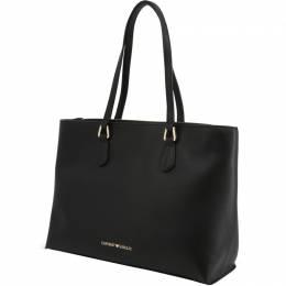 Emporio Armani Black Faux Leather Shopping Tote 236591