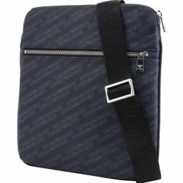 Emporio Armani Blue Signature Fabric Messenger Bag 236379