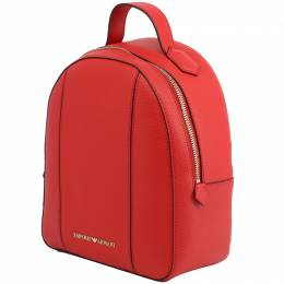 Emporio Armani Red Faux Leather Backpack 236384