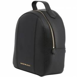 Emporio Armani Black Faux Leather Backpack 236385