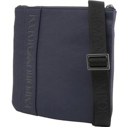 Emporio Armani Blue Faux Leather Messenger Bag 236381