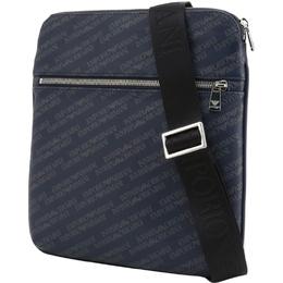 Emporio Armani Blue Signature Fabric Messenger Bag 236579