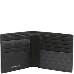 Emporio Armani Grey Signature Faux Leather Bifold Wallet 236578