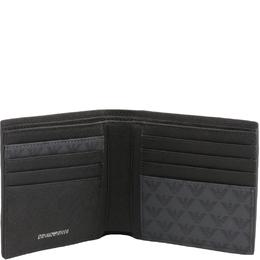 Emporio Armani Grey Signature Faux Leather Bifold Wallet 236378