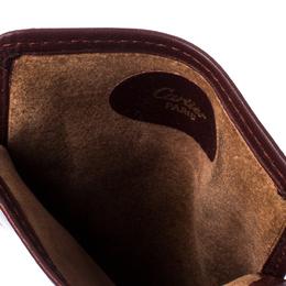 Cartier Maroon Leather Must de Cartier Sunglasses Case