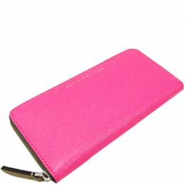 Marc By Marc Jacobs Pink Leather Round Zipper Wallet 236912