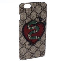 Gucci Beige GG Supreme Snake Heart IPhone 7 Case