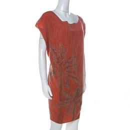Diane Von Furstenberg Coral Embellished Silk Cordie Dress M