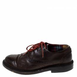 Dsquared2 Brown Brogue Leather Lace Up Oxfords Size 40 237645