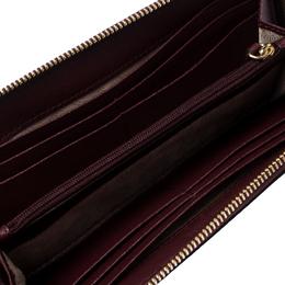Michael Kors Burgundy Saffiano Leather Zip Around Wallet 236659
