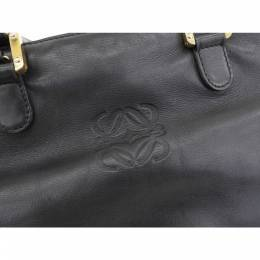 Loewe Black Leather Shoulder Bag 237324