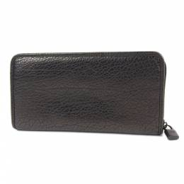 Loewe Bronze Leather Round Zipper Long Wallet 237341