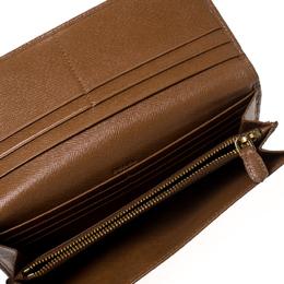 Prada Caramel Saffiano Lux Leather Continental Wallet 236620