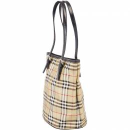 Burberry Brown/Beige House Check Canvas Tote Bag 237372