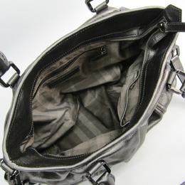 Burberry Silver Calfskin Leather Shoulder Bag 237364