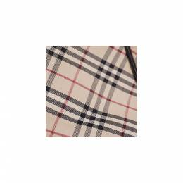Burberry Tricolor Canvas Leather Check Tote Bag 237369