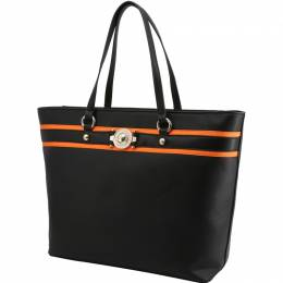 Versace Jeans Black Faux Leather Shopping Tote 236672