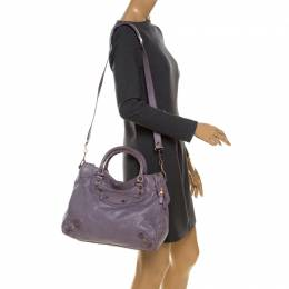 Balenciaga Lilac Leather RH Town Tote 233350