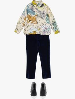 Burberry Kids - рубашка с принтом Constellation 86359509600300000000
