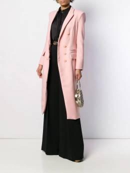 Elisabetta Franchi - приталенное пальто с поясом 0396E095535935000000