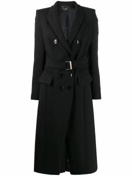 Elisabetta Franchi - приталенное пальто с поясом 0396E095535059000000