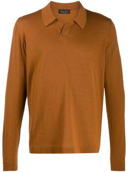 Roberto Collina рубашка-поло с длинными рукавами RB01004