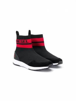 Diesel Kids - кроссовки-носки с логотипом 969P9335956959830000