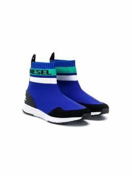 Diesel Kids - кроссовки-носки с логотипом 969P9330956959860000