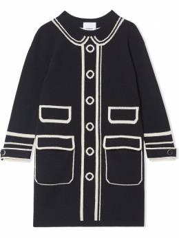 Burberry Kids - платье-джемпер вязки интарсия Trompe l'oeil 09669596935300000000